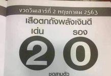 หวยซองเสือตกถัง พลังเงินดี2/5/63