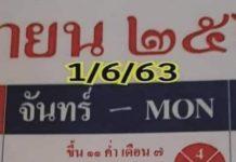 เลขเด็ดหวยปฏิทิน และหวยปฏิทินจีน1/6/63