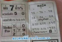 หวยซอง โป๊ยเซียนชี้โชค เลขเจ็ดดาว 1/6/63