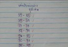 หวยแนวทาง นู๋น้ำ สมาย 1/6/63