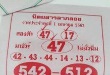 หนังสือหวยลาภลอยฟันธง งวดนี้1/6/63
