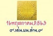 หวยพระ พ.เจริญ พรหมสโร สายวัดป่า 1/7/63