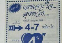 เลขวิ่ง เจาะใจลุงหวัง 16/7/63