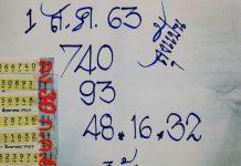 หวยทำมือลุงแป้น1/8/63