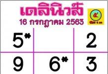 หวยไทยรัฐ 1/8/63เลขมหาทักษา