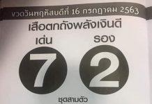 หวยซองเสือตกถัง พลังเงินดี16/7/63