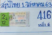 หวยทำมือ บารมีเหล็กไหล สรุปไทย1/8/63