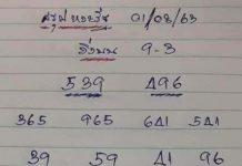 เลขเด็ดล่างหวย yai tum 1/8/63