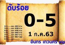 ข้อมูลหวย เลขดับอินทรเทวนคร16/7/63