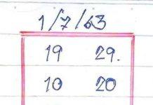 หวยทำมือ บ้านไผ่ เมืองพล 16/7/63