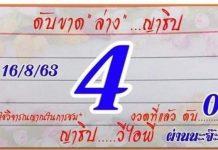 เลขดับขาดบน ดับขาดล่าง ญาธิป 16/8/63