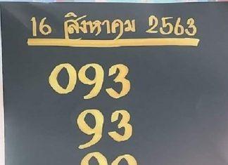 หวยทำมือ เลขเด่นฤาษีตาไฟ หวยอ.อุดม ธัญญาหาร 16/8/63