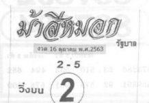 หวยซองดัง ม้าสีหมอก16/10/63