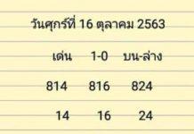 เลขเด่น บน ล่าง ชอบก็จัดไปคับผม อ.สิง16/10/63