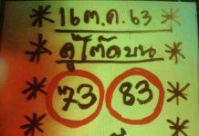 หวยคู่โต๊ดบน เลขพารวยงวดนี้ 16/10/63