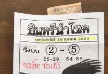 หวยอินทรีย์นำโชค16/10/63