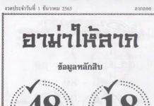 หวยอาม่าให้ลาภ1/12/63