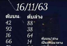 เลขดับบน ดับล่าง อ.สายธาร น้ำใส16/11/63