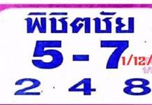 หวยเรียงเบอร์ พิชิตชัย1/12/63