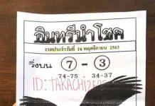 หวยอินทรีย์นำโชค16/11/63