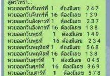 สูตรหวย เลขเด่นประจำวัน จันทร์ 1/3/64