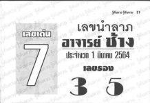 หนังสือหวย อาจารย์ช้าง เซียนโป๋ว อ.กุ้ง 1/3/64