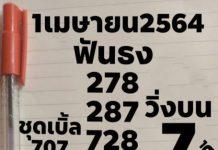 หวยฟันธง ชุด 3 ตัวบน หนุ่มตาคลี 1/4/64