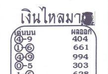 หวยเงินไหลมา เลขวิ่งบน ล่างแม่นๆ 2/5/64