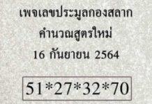 หวยแอดหนุ่ม เชียงใหม่ และเลขดังงวดนี้ 16/9/64