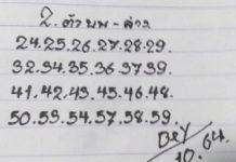มาแล้วเลขเด็ดคู่โต๊ดบนล่าง หวยทรัพย์เศรษฐี1/10/64