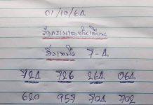 เลขเด็ดล่างหวย yai tum 1/10/64