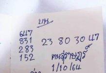 เลขเด็ด หวยคนสุราษฎร์ เด็กสุราษฎร์1/10/64