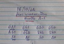 เลขเด็ดล่างหวย yai tum 16/10/64