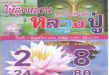 เลขนิมิต หลวงปู่ศักดิ์สิทธิ์จากถ้ำลิเจีย1/11/64